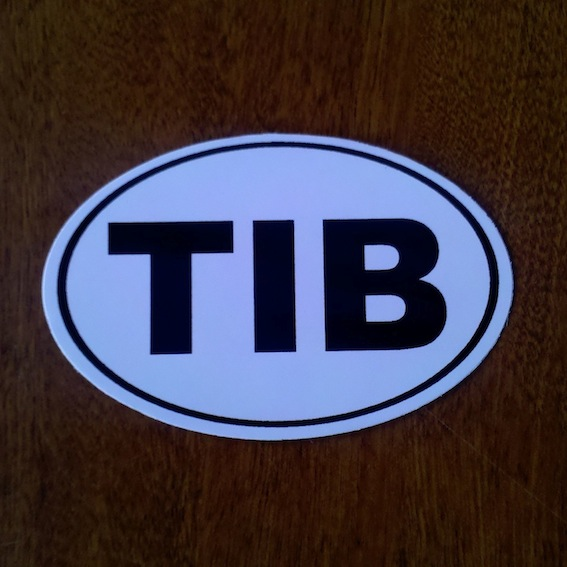 Tibet Country Code Sticker