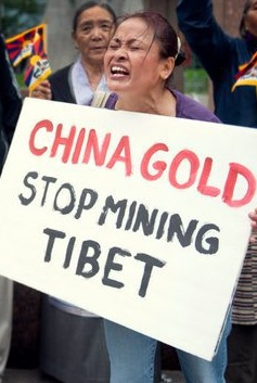 China Gold Mining Protest