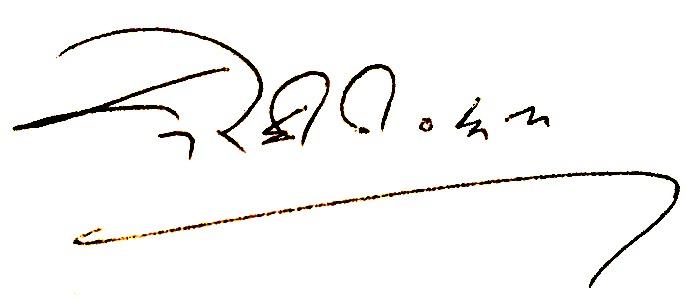 Dorjee Tseten signature